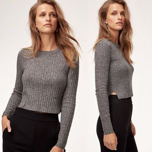 Aritzia Babaton Nathaniel Sweater Ribbed Crop Knit